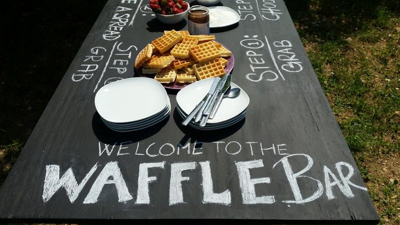 wedding waffle bar