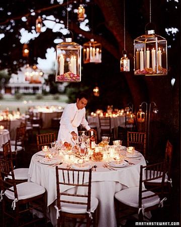 lanterns and wax candels