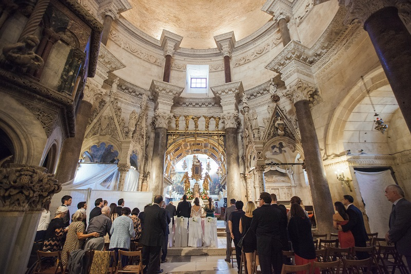 Church ceremony in Croatia