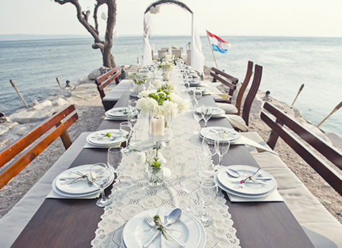 Romantic venue by the see Croatia